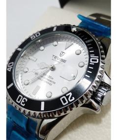 Relógio Automático Tevise T801a Masculino Aço Inox Original