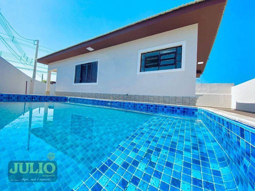 Imagem 1 de 30 de Entrada R$ 76 Mil E Saldo Financiado! Casa Com 2 Dormitórios Com Piscina, 82 M² Por R$ 379.900 - Itaóca - Mongaguá/sp - Ca4327
