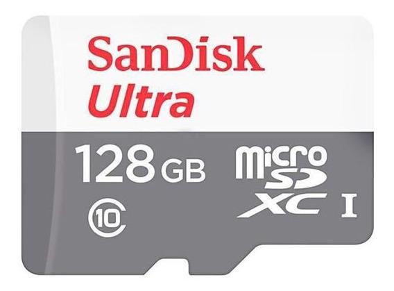 Cartão De Memória Micro Sd 128gb Sandisk Ultra Msdxc Uhs-i