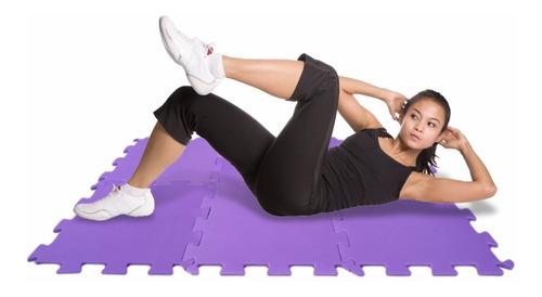 Imagem 1 de 5 de Tapete Colchonete Portátil Yoga Eva Pilates Ginástica 6 Pçs