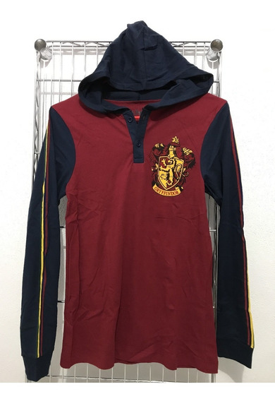 Playera Harry Potter Gryffindor Manga Larga Gorro Quidditch
