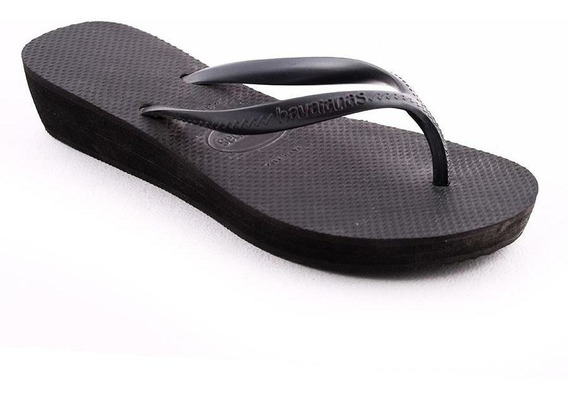 Ojota H High Light Black Havaiana Mujer