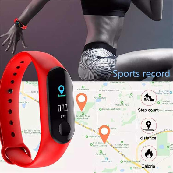 Pulseira Inteligente Fitness C Monitor iPhone E Bluetooth
