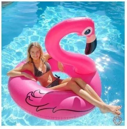 Boia Inflável Piscina Gigante Flamingo Rosa 122cm Linda Top