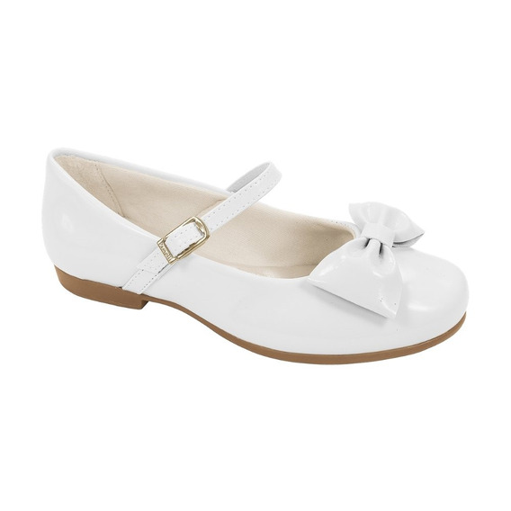Sapato Pampili Angel Branco Verniz