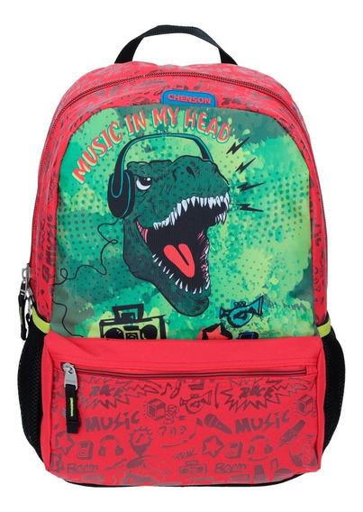 Mochila Escolar Para Niño Dinosaurio T-rex Chenson Co64045