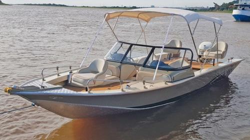 Lancha De Aluminio Pira New 240 Solo Ca