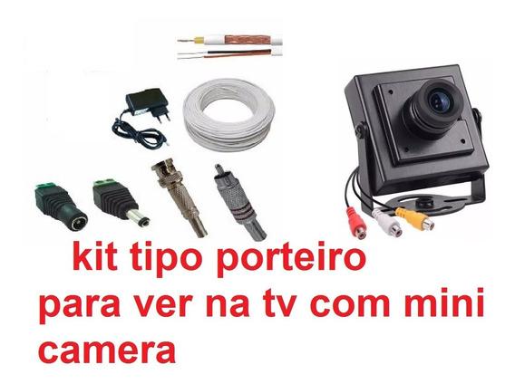 Kit Camera Segurança Audio P Tv Pronta Dispensa Instalador