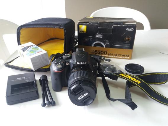 Câmera Fotográfica Nikon D5300 + Lente Kit + Bolsa Pouco Uso