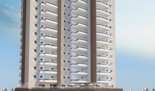 Imagem 1 de 14 de Apartamento 2 Dormitórios De Frente A Praia Na Praia Grande