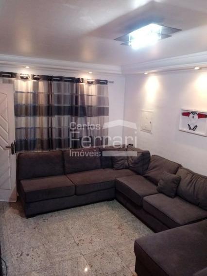 Sobrado Contendo 2 Suites, 2 Vagas, Churrasqueira Na Região De Bortolândia - Cf27946