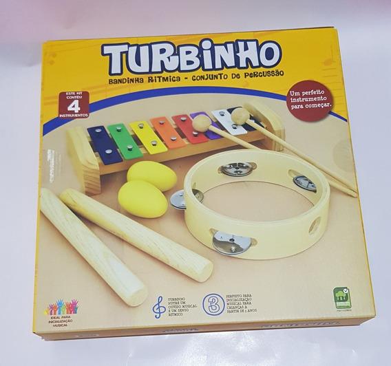 Bandinha Ritmica Turbinho Br-4b Kit 4 Instrumento Metalofone