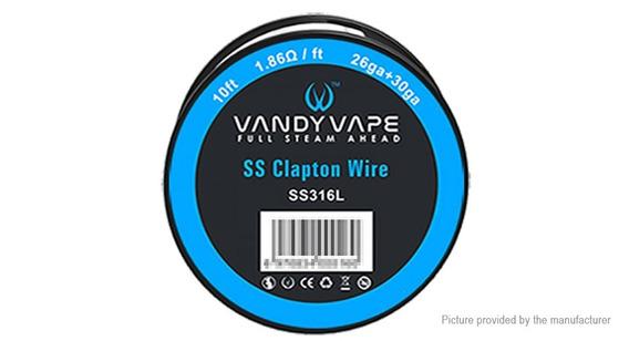 Kit Com Fio Clapton Wire, Fio 26 E Vapeband Muji 20