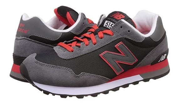 New Balance 515 Black And Red Suede