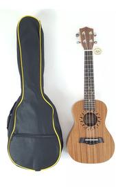Ukulele Aloha Mogno Capa Concert 23a Aquila Blindado