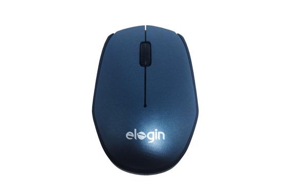 Mouse Mini Óptico Usb Sem Fio 2,4ghz 1600dpi Elogin Cinza