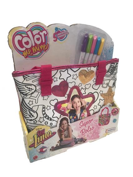 Soy Luna Color Me Mine Bolso P/ Colorear Con Marcadores 6814