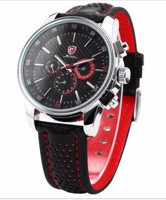 Relógio Masculino Shark Quartzo Couro - Sh094-1