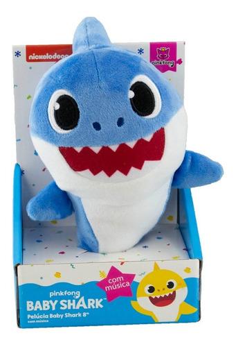 Imagem 1 de 2 de Pelúcia Baby Shark Musical 20cm - Toca Música - Original