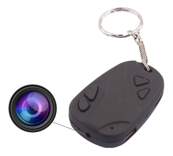 Llavero Espia Mini Camara Oculta Seguridad Microfono Voz Camuflada Ranura Para Memoria Micro Sd Video