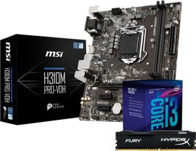 Kit Intel Core I3 8100 Msi H310m Pro Vdh Hyper X 8gb Fury I