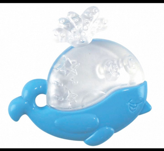 Mordedor Infantil Baleia Super Macio E Atóxico Para Bebê