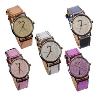 Reloj Gliter Brillo Por Mayor X 5 Unidades