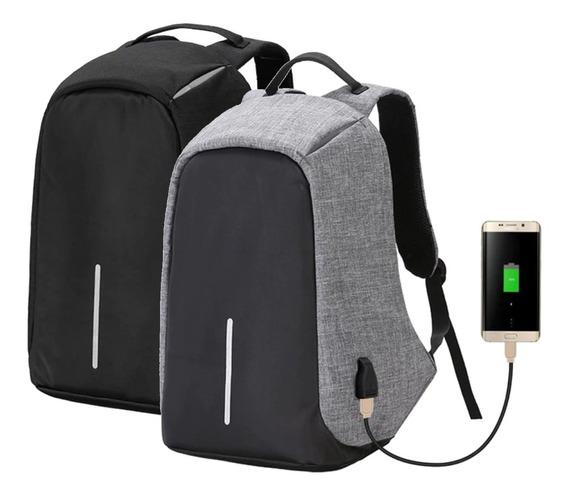 Mochila Antirrobo Smart Carga Usb Notebook Tablet Celular