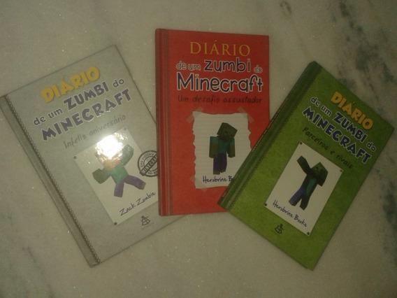Diário De Um Zumbi Do Minecraft 1, 2, 9 ( Lote Com 3 Livros)
