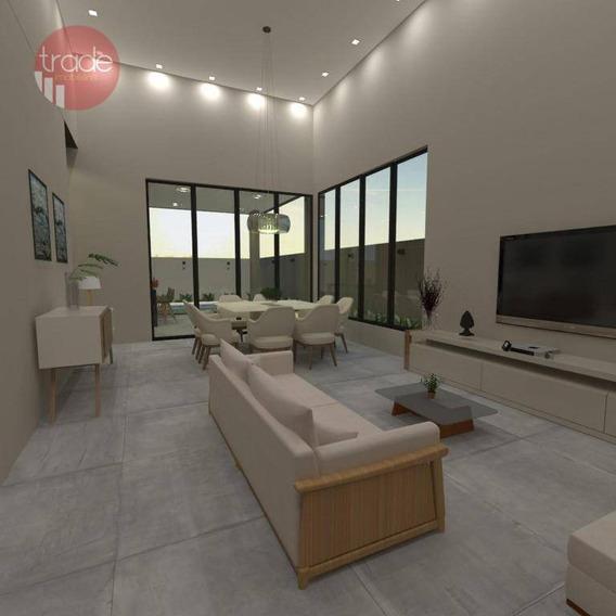 Casa Com 3 Suítes À Venda, 200 M² Por R$ 860.000 - Condomínio Buona Vita - Ribeirão Preto/sp - Ca2935