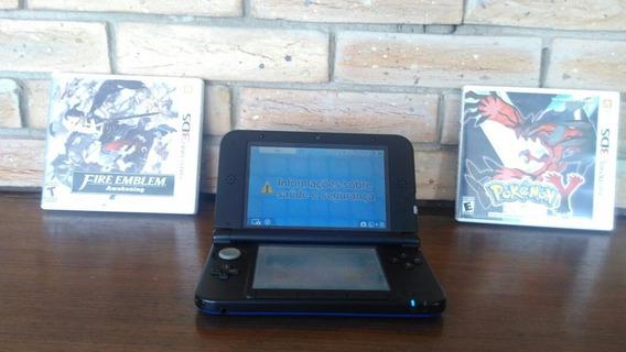 Nintendo 3ds Xl Azul + Fire Emblem Awakening + Pokemon Y