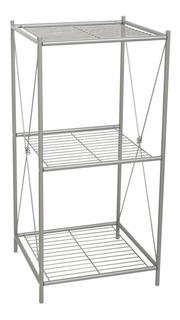 Repisa Mueble De Piso Para El Hogar Acabado De Níquel Satinado Construcción Resistente De Metal Fácil Instalación