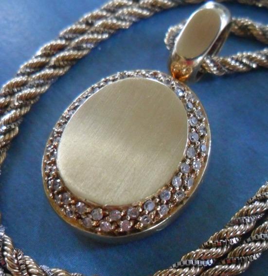 Colar Gargantilha Completa Ouro 18k & Brilhantes - Oportuno
