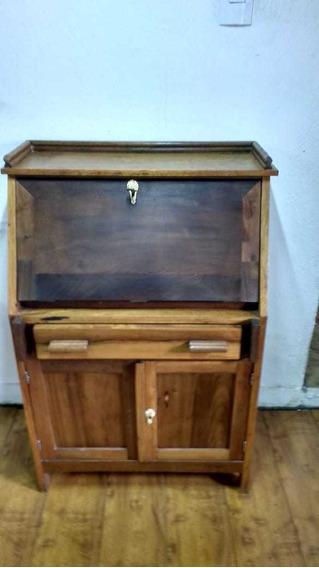 Escrivaninha Antiga De Madeira