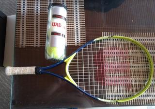 Raqueta De Tenis + Juego De Pelotas