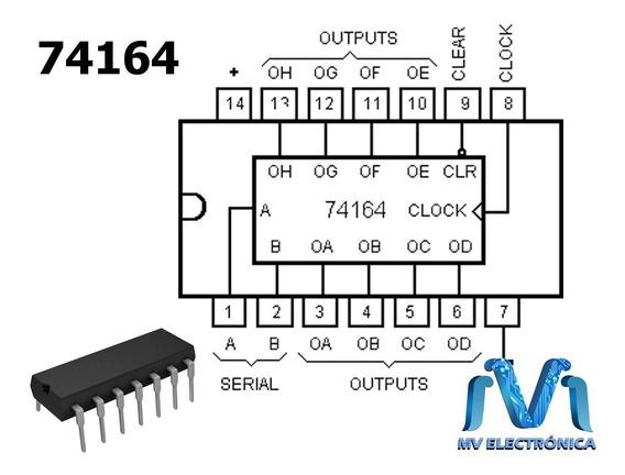 100 PCS SN74LS164N DIP-14 74LS164 8-Bit Parallel-Out Serial-in Shift Register