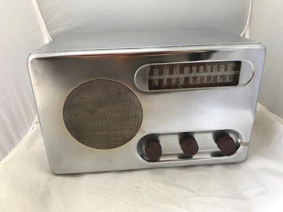 Radio Valvulado Detrola 568 Cromado Am Ondas Curtas Lindo