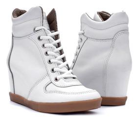 Zapatillas Taco Escondido Sneakers All Leather Cuero Art 682