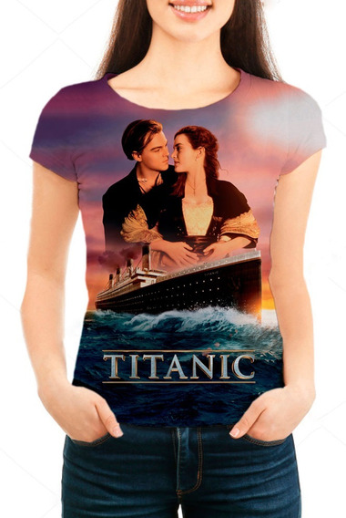 Camiseta Babylook Feminina Filme Titanic - Mn01