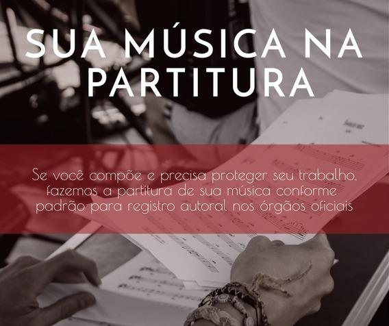 Partituras Para Registro De Músicas - Promoção