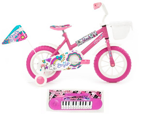 Bicicleta Rodado 12 Nena Niña Stark Rueditas Mochila + Piano