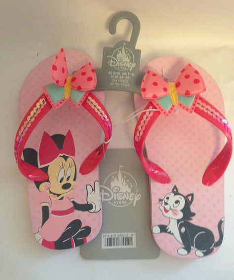 Chinelo Infantil Minnie 17cm Original Disney -pronta Entrega