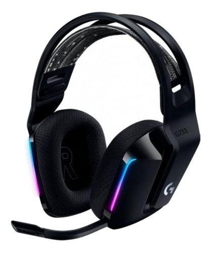 Imagen 1 de 3 de Audífonos gamer inalámbricos Logitech G Series G733 negro con luz  rgb LED