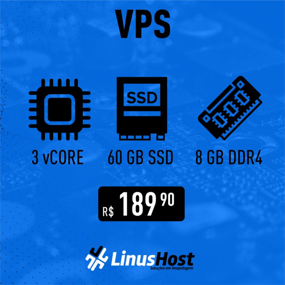 Servidor Vps Linux/windows Gamer - 3vcore/8gb Ram/60gb Nvme