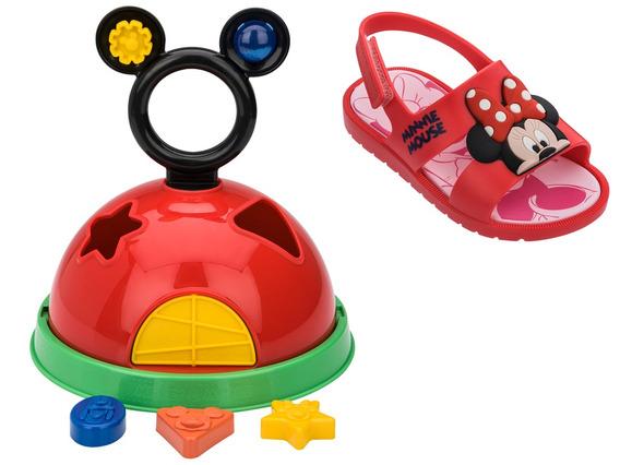 Sandália Papete Infantil Menina Grendene Disney Minnie 21996