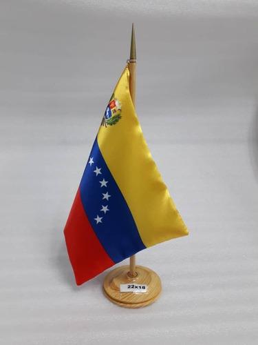 Bandera De Venezuela Para Escritorio 22x18 Mayor Y  Detal