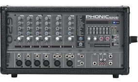 Mesa Amplificada Phonic 620 Cabeçote Tipo Behringer Pmp 2000