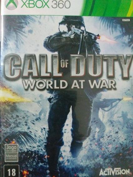 Call Of Duty World At War Xbox 360 Original , Mídia Física