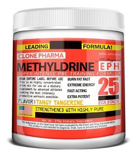 Pré-treino Methyldrine Tangerine Clone Pharma 270g Importado