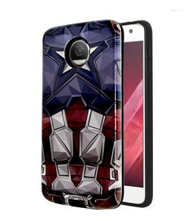 Funda Diseño Capitán América Moto Z2 Play + Cristal Templado